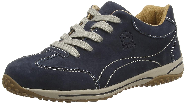 Gabor Comfort 06.385.46 Damen Leder Turnschuhe  Blau (Dark Blau Nubuck) 44 EU (9.5 UK)