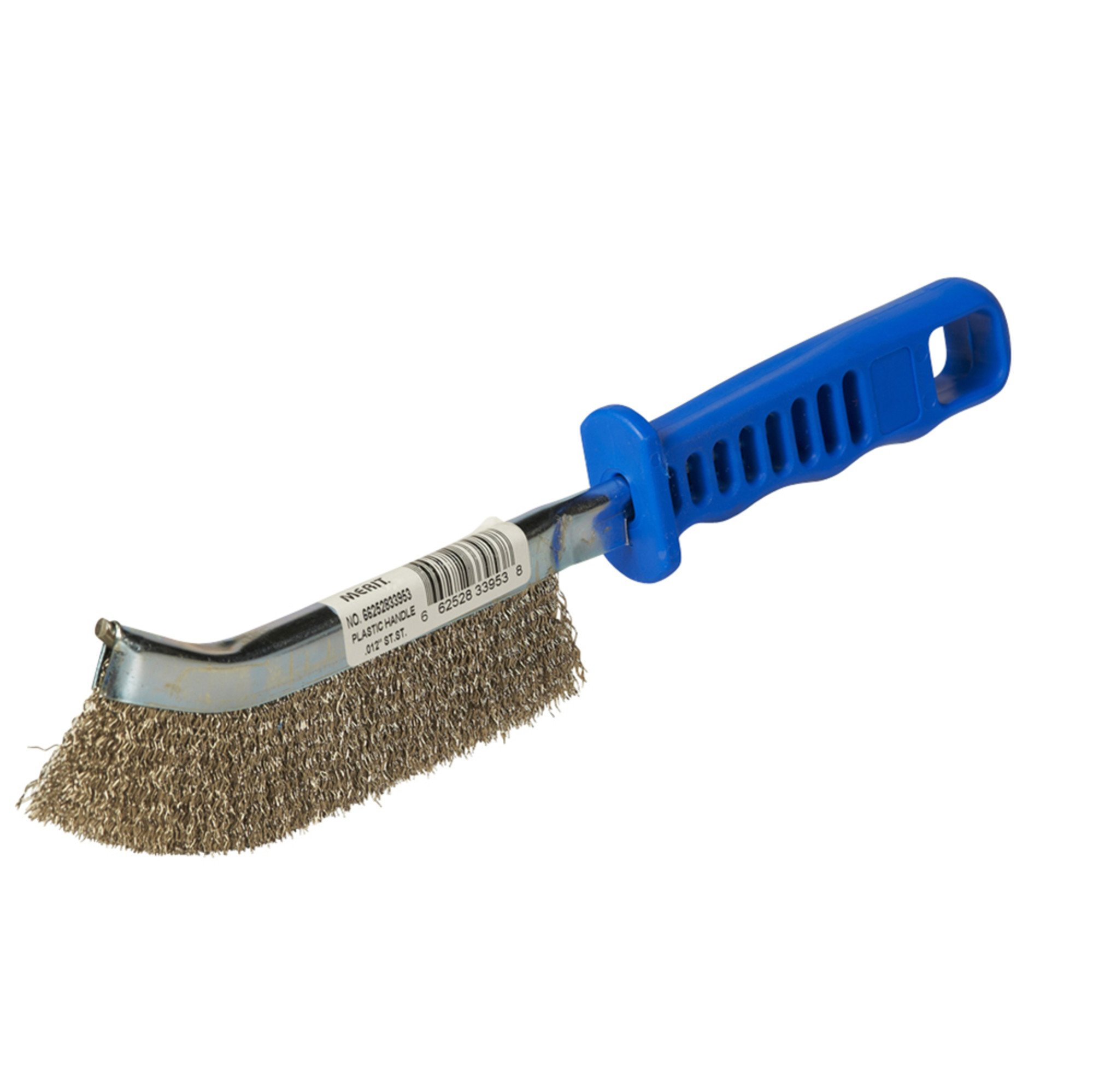 Norton Hand Scratch Brush for Stainless Steel with Plastic Handle, Stainless Steel Bristles (1 Brush)