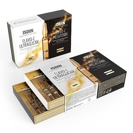Amazon.com : Isdinceutics Flavo-C Melatonin + Ultraglican 10 +10 Ampollas : Beauty