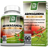 BRI Nutrition Ashwagandha - Premium Stress & Anxiety Relief w Energy Boost & Calm, Vegetarian Vegetable Capsules (90 Count)