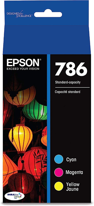 Epson T786520-S DURABrite Ultra Standard-Capacity Color Ink Cartridge, Multipack, Multicolor