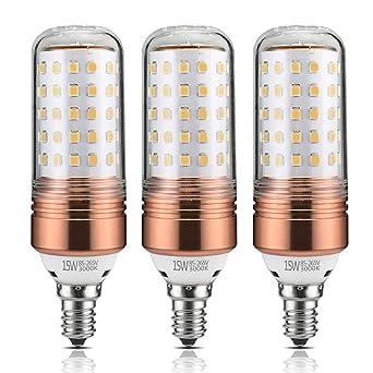 yiizon 15 W LED vela bombillas 6000 K luz blanca y 3000 K blanco cálido 1200LM