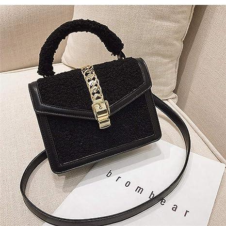 6ab69de8f87f Amazon.com: XLMLJYX Designer Handbags Stitching Retro Women's ...