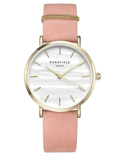 Rosefield Reloj Digital para Mujer con Correa de Cuero - WBPG-W72: Amazon.es: Relojes