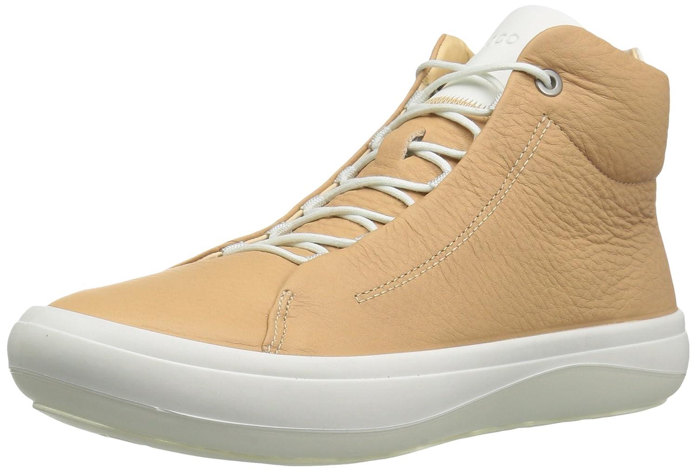 ECCO Women's Kinhin High Top Fashion Sneaker B01M293JBT 39 EU / 8-8.5 US|Volluto/Shadow White