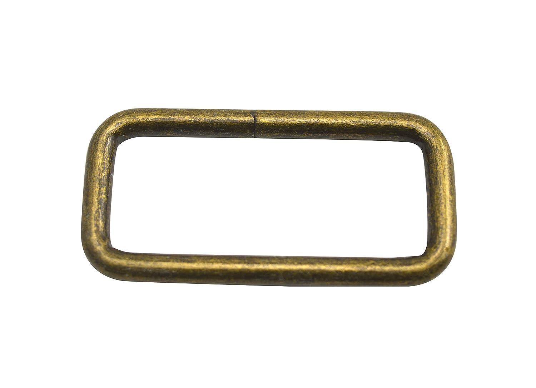 Inner length:0.6,Inner width:0.5,20Pcs Wuuycoky Anneau rectangulaire /à boucle sans sangle bronze sans ceinture