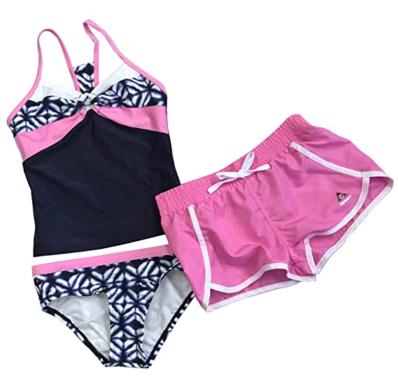 dc08334f46 Gerry Girls 3-Piece Swim Set - Navy Pink (Navy Pink