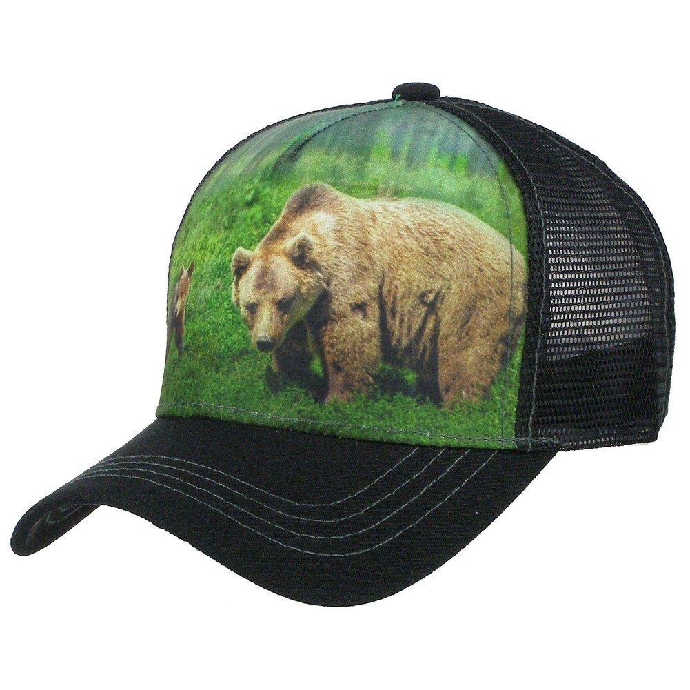 2a5a8d3f1 Big Bear Trucker Hat Animal Farm Baseball Cap Adjustable Mesh ...