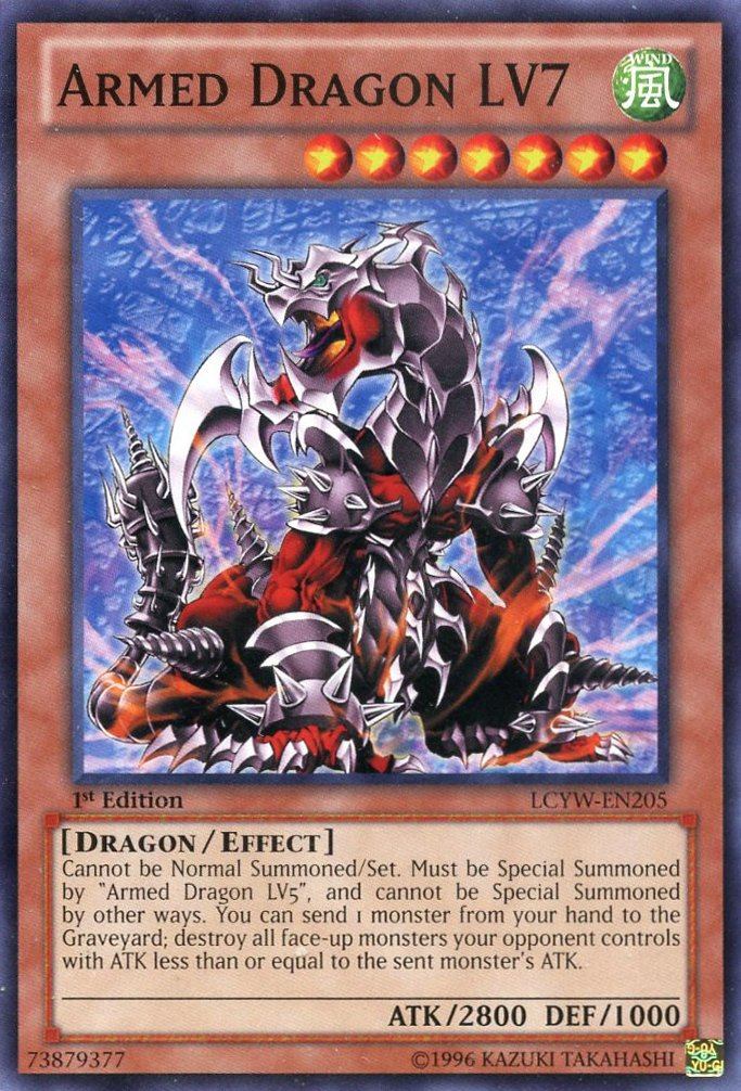 YU-GI-OH! - Armed Dragon LV7 (LCYW-EN205) - Legendary Collection 3: Yugi's World - 1st Edition - Common