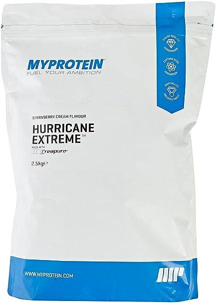 MyProtein Hurricane Extreme Proteínas, Sabor Nata y Fresa - 2500 gr