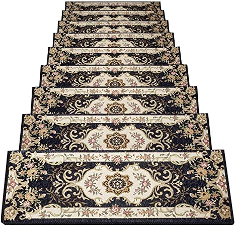 alfombra YNN peldaños Escalera Escalera Peldaño Escalera Hogar Pegamento Autoadhesivo Escaleras de Madera Antideslizantes, Juego de 7 Piezas (Color : A-7 pcs, Tamaño : 30 * 100cm): Amazon.es: Hogar