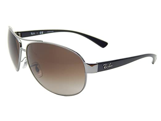 908d33dc62 Amazon.com  New Ray Ban RB3386 004 13 Gunmetal  Brown Gradient 63mm ...