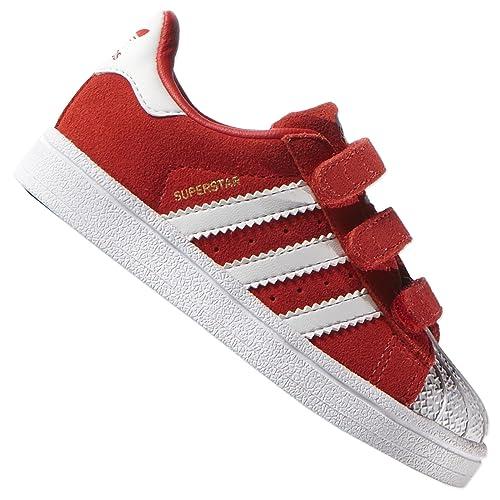Adidas Bebé Zapatillas Superstar Rojo Zapatos Cf 2 Niños Originals RRCwBq6xa