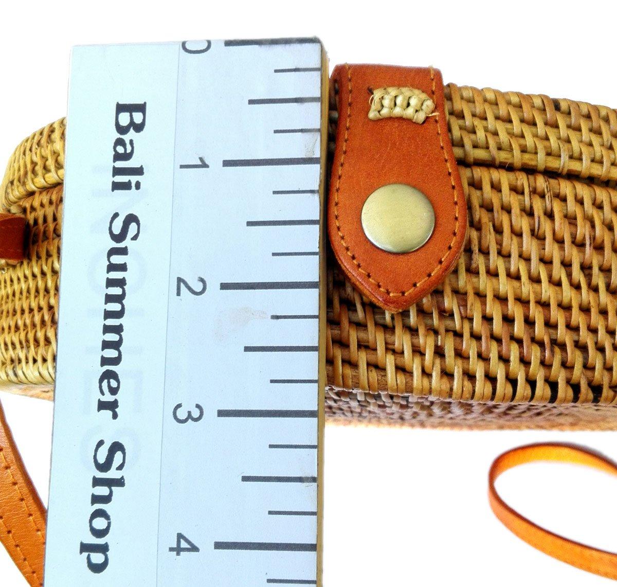 Bali Rattan - Handwoven Round Rattan Bag (Plain Weave Leather Closure) by Bali Rattan (Image #4)