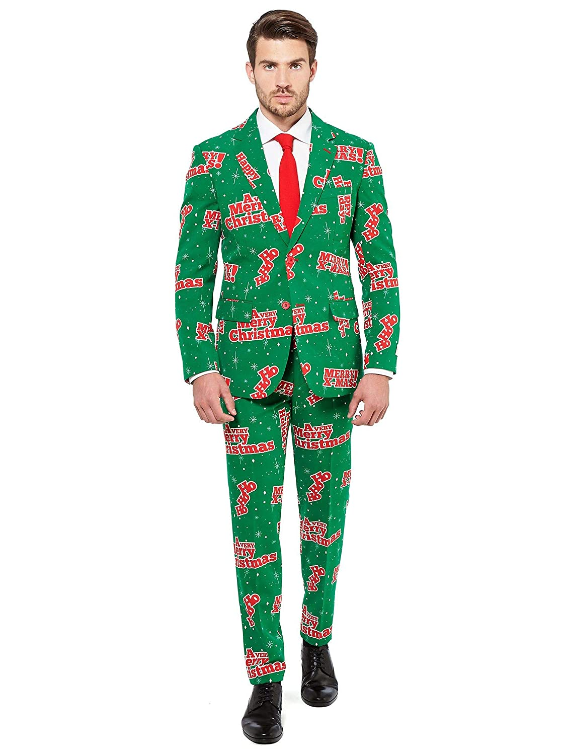 Opposuits Official STAR WARSTM Suit - Starry Side Costume Comes With Pants, Jacket and Tie, Starry SideTM, 58 Santaboss