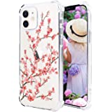 Hi Space Compatible with iPhone 12 Case & iPhone 12 Pro Case 2020 6.1 Inch, Cherry Blossom Floral Ultra Clear Slim Transparen