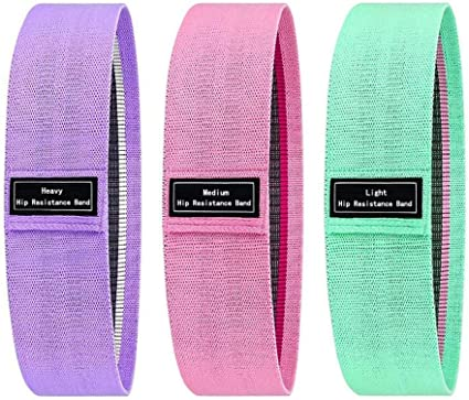 Thick Cloth Bands for Hips Fitophoria Resistance Hip Bands for Legs and Butt Glutes and Peach Booty Loop Bands Anti Slip Fitness Circle Band