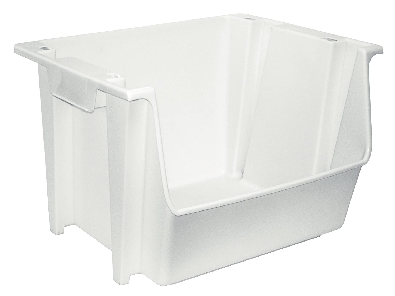 United Solutions SB0041 Large Plastic Nesting/Stacking Storage Bin, Black SB0042
