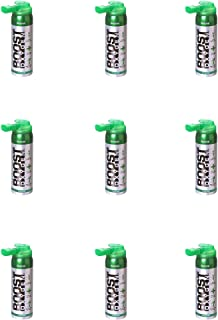 product image for Boost Oxygen Canned 2-Liter Natural Inhaler Canister Bottle for High Altitudes, Athletes, and More, Flavorless (9 Pack)