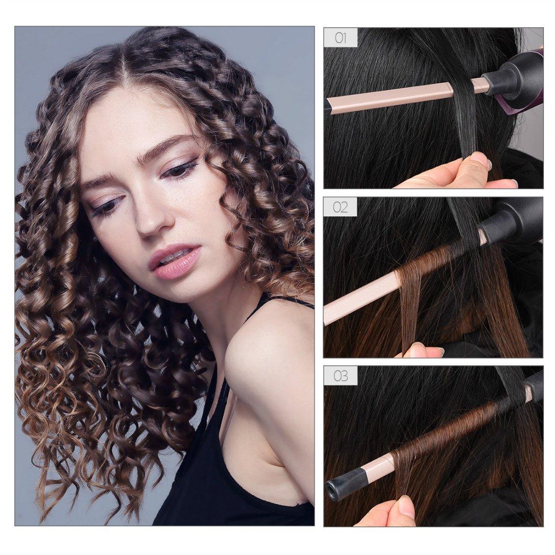 Rizador de Pelo, Rulos de Cerámica de 9 mm,LCD Digital Chop Stick Style Hair Curler-Para Hombre/Mujeres/Niños -Enchufe de la EU: Amazon.es: Salud y cuidado ...