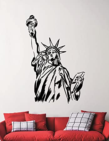 Statue Of Liberty Wall Sticker Lady Liberty Decal Home Interior Design  Living Room Decor Bedroom Wall