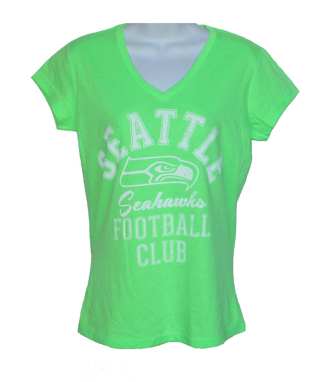 899b5dfd Amazon.com : Seattle Seahawks Women's Size Medium Cap Sleeve V Neck ...