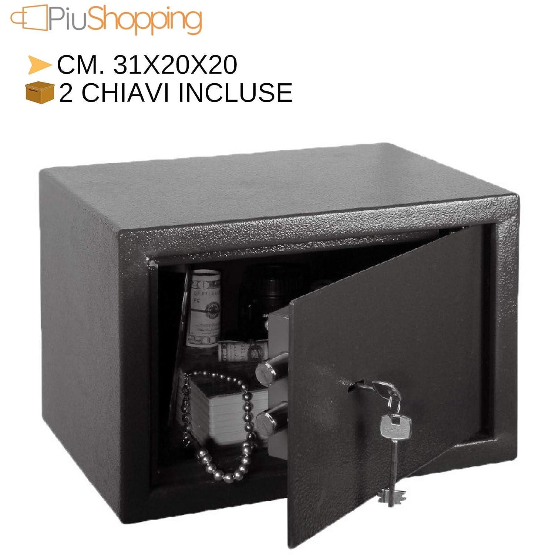 Caja fuerte para empotrar en pared mecánica de armario hotel o portátil - Grande (dim 31 x 20 x 20) de acero: Amazon.es: Industria, empresas y ciencia