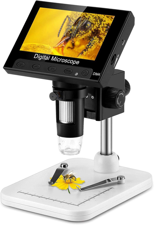 Heaviesk Cam/éra Endoscope USB Microscope num/érique Microscope 8 LED Microscope num/érique 800X St/ér/éo Magnifier Electronique Plug and Play