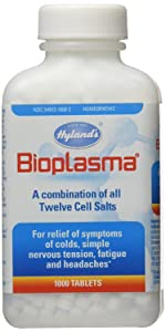 Bioplasma Cell Salts Tablets by Hyland's, Natural Homeopathic Combination of Cell Salts Vital to Cellular Function, 1000 Count