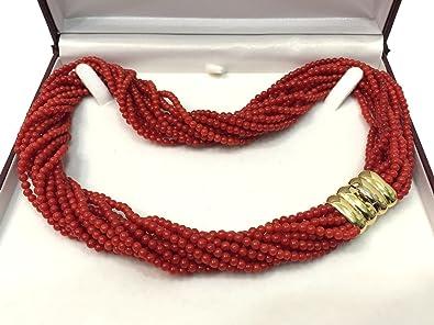collier de corail rouge 45cm,12mm