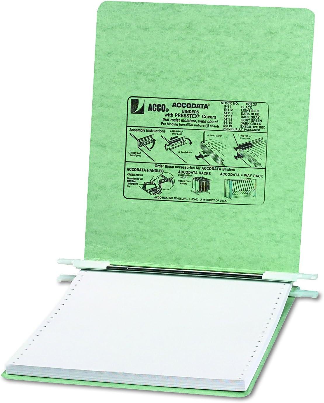 12 x 8-1//2 Unburst Sheets Pressboard Hanging Data Binder Executive Red