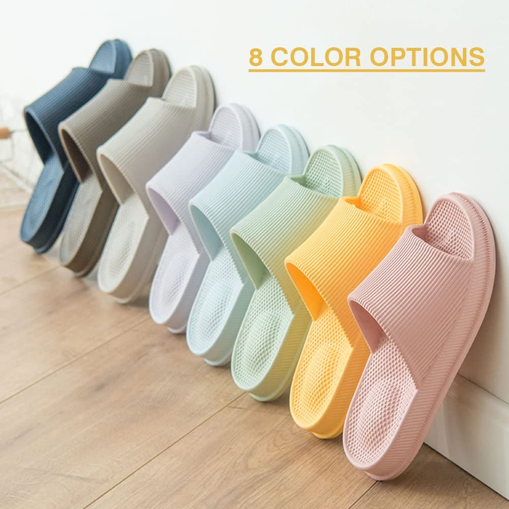 10.5 UK Unisex Home Home Slippers for Women//Men Non-Slip Light Weight with Massage Point Flat Slide Sandals Soft House Pool Shoes Thong for Indoor Home Bathroom Poolside,8 Colors,5.5 UK