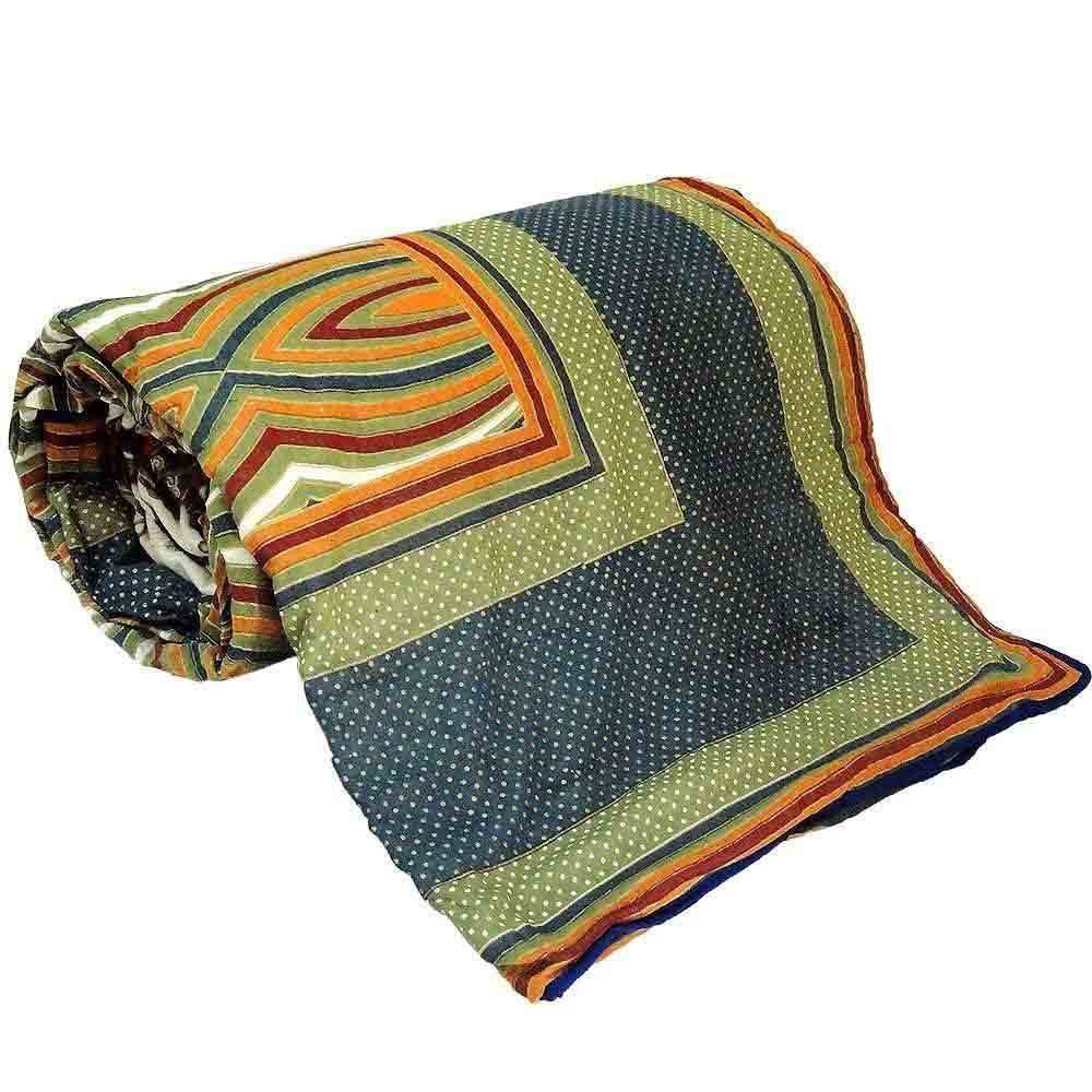 Little India Jaipuri Multicolor Ethnic Cotton Double Bed Dohar 305