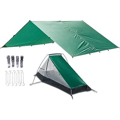 Aqua Quest WEST COAST Vivac - Refugio Ultra Ligero Tienda Transpirable para 1 o 2 Lugares, Instalación Rápida y Fácil
