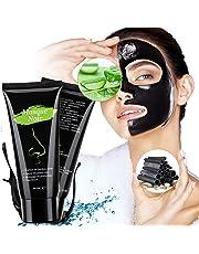 Masque Charbon Point Noir,Peel Off,Black Mask, Anti-Point Noir Masque, Blackhead Remover Dissolvant de tête Noire pour l'huile et l'acné for Oily,Nettoyant en Profondeur Rétrécir Pores