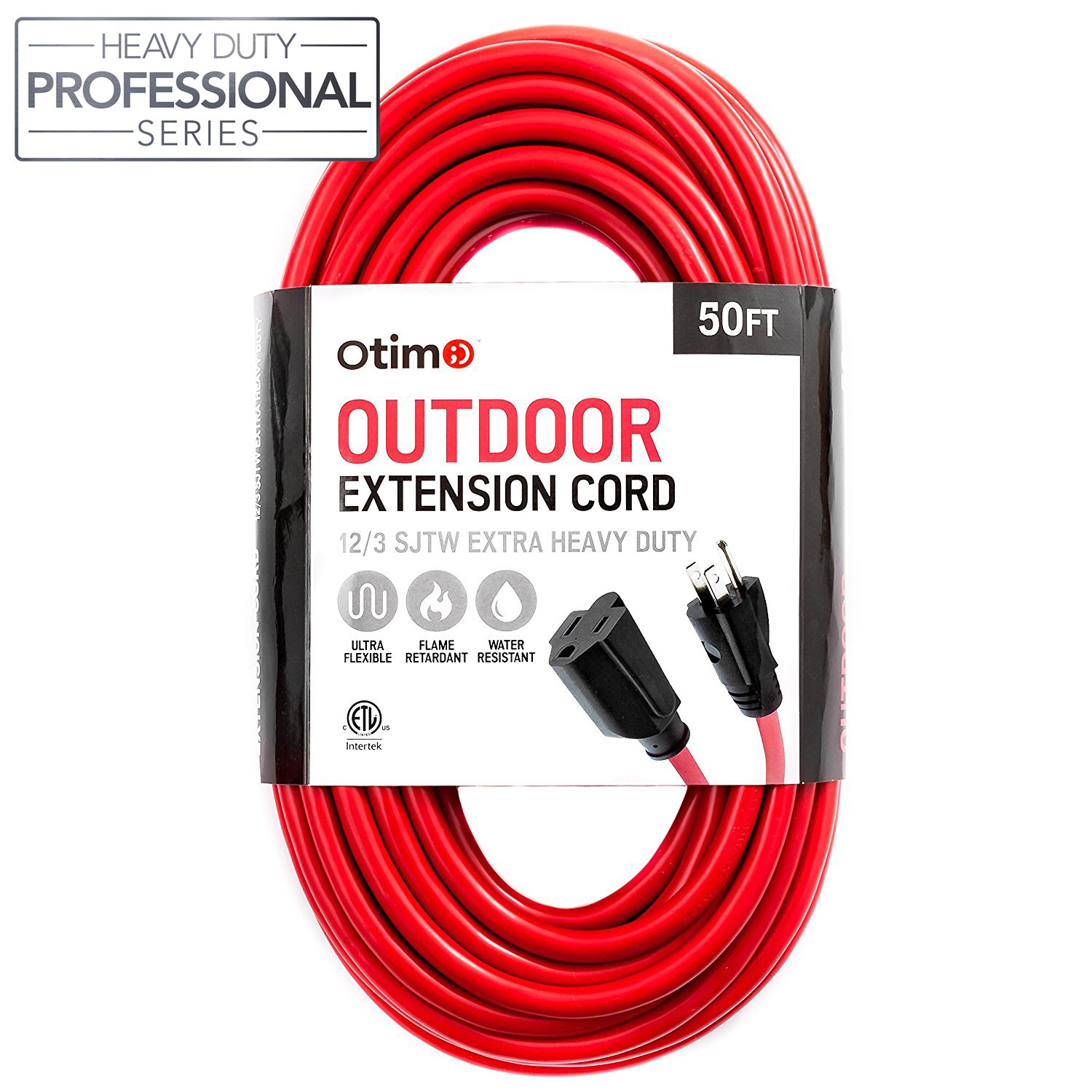 Amazon.com: Otimo 50 Ft 12/3 Outdoor Extra Heavy Duty Extension Cord ...
