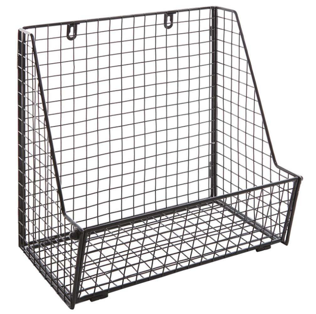 ノウ建材貿易 2壁掛け多機能収納バスケットフルーツドレインバスケットフルーツラック (色 : 黒)  黒 B07RJCSML3