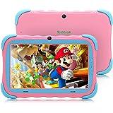 Surfans - Tablet para niños, 2 GB RAM 16 GB ROM, visualización IPS HD de 7 pulgadas, cámara WiFi y niños a prueba de…