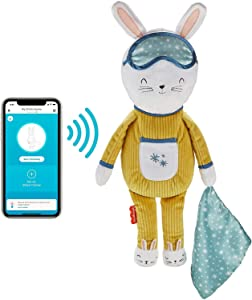 Fisher-Price Hoppy Dreams Soother & Sleep Trainer, Plush Musical Toddler Toy with Sleep Training Tool, Lights and Sounds