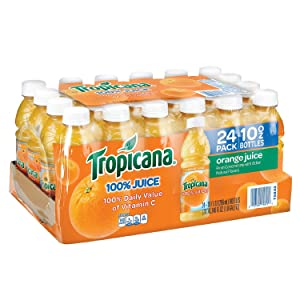 Tropicana 100% Orange Juice 10 oz. bottles, 24 pk. A1