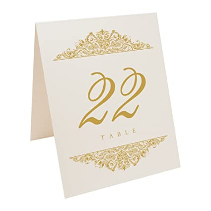 6798d8d23204b Documents and Designs Paisley Table Numbers (Select Color Quantity)