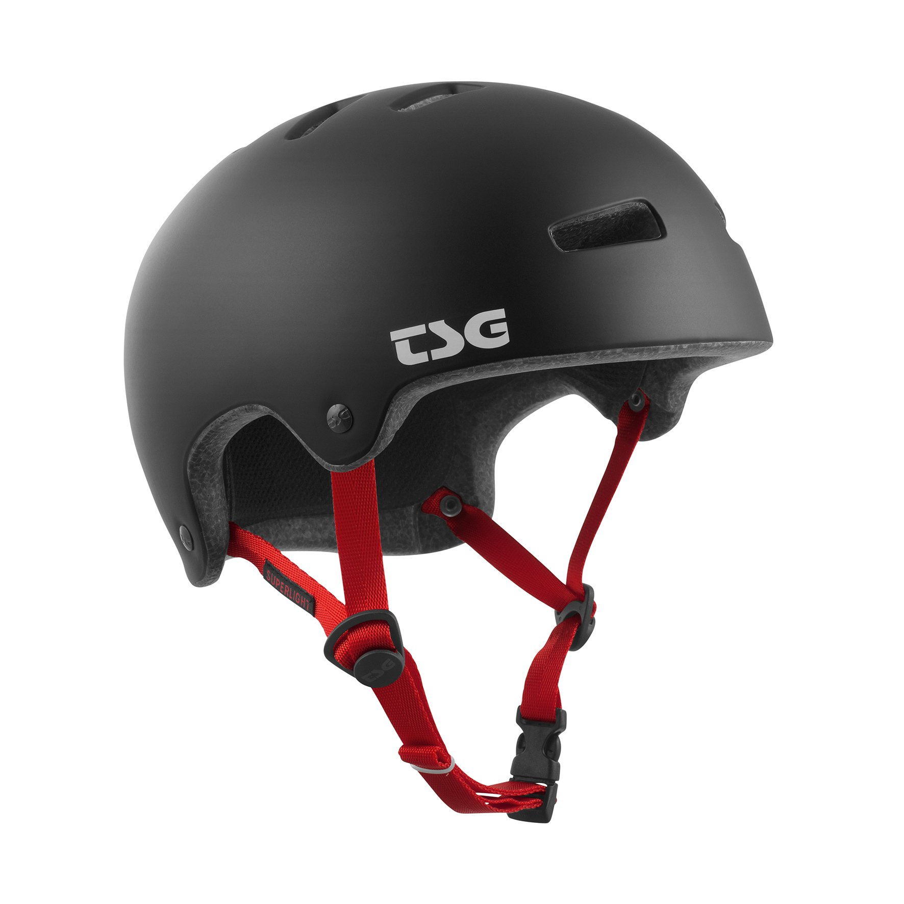 TSG - Superlight Solid Color - (satin black, XXL 59-60.5 cm) Helmet for Bicycle Skateboard by TSG