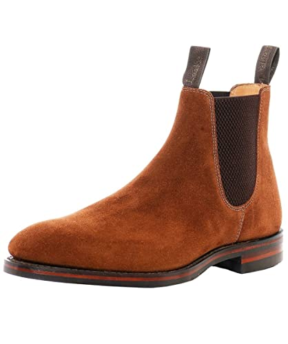 be1e8d4e36f6 Loake Men s Suede Chatsworth Chelsea Boots Brown  Amazon.co.uk  Shoes   Bags
