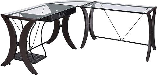 Coaster Home Furnishings Monterey 3-piece L-Shape Computer Desk Set