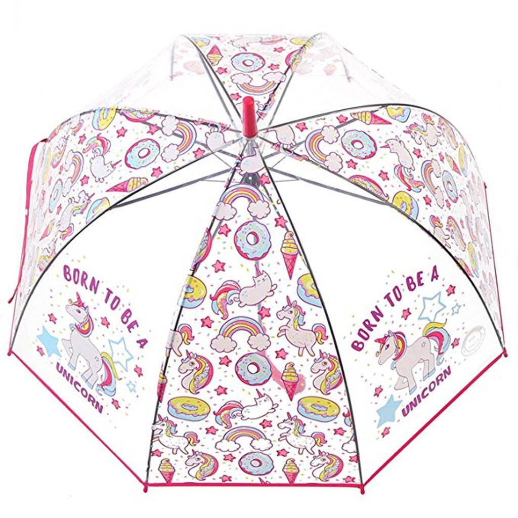 Amazon.com: OldPAPA Unicorn Clear Umbrella, Bubble Dome Auto Open Umbrella Windproof for Outdoor Weddings,School Back: Sports & Outdoors