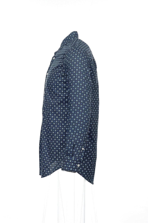John Ashford Mens Blue Floral Button Down Shirt
