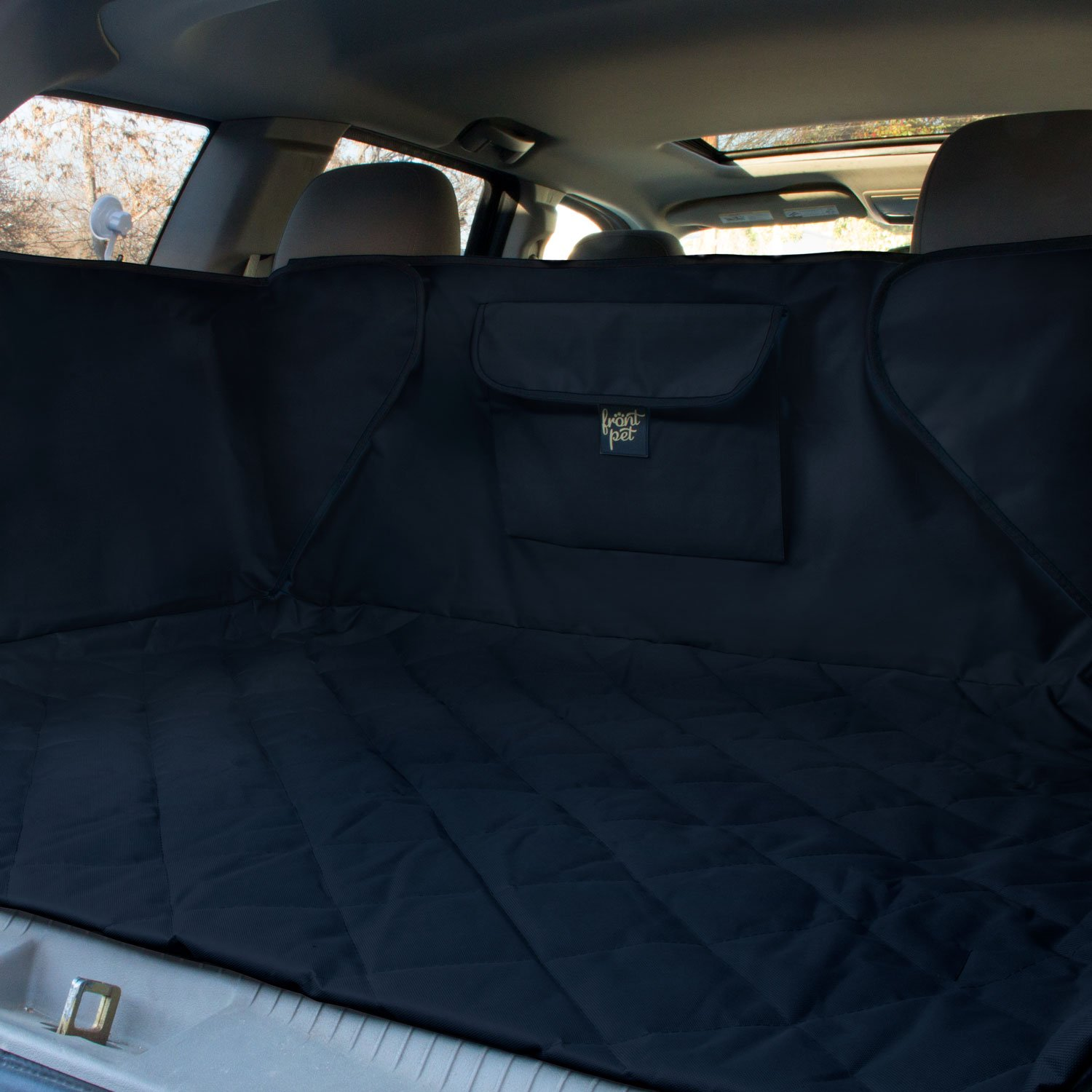 FrontPet Extended Width Quilted Dog Cargo Cover for SUV Universal Fit for Any Animal. Durable Liner Covers and Protects Your Vehicle by FrontPet (Image #2)