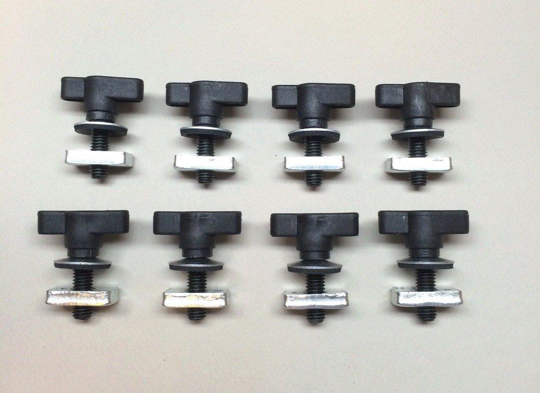 Universal Jeep Wrangler Hard Top Quick Removal Fastener Thumb Screw and Nut Kit fits all CJ YJ TJ JK