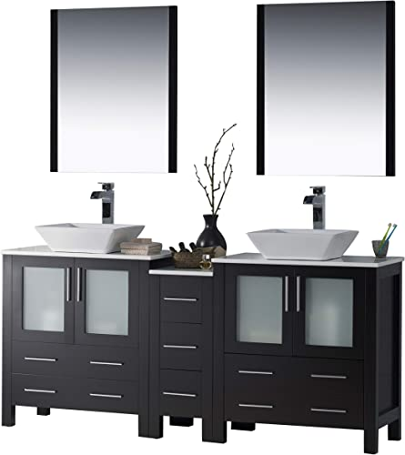 Blossom Sydney 72″ inches Double Vessel Sink Bathroom Vanity