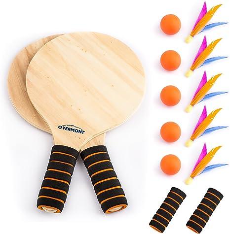 Schildkr/öt Funsports Badminton in Tasche Federball 4 Spieler Set blau